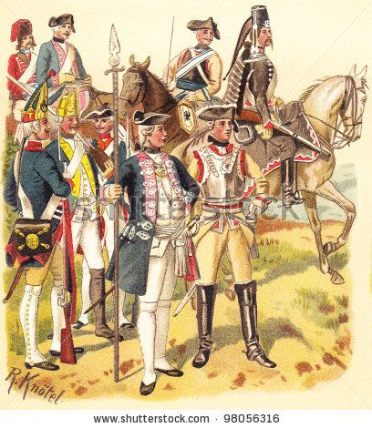 SYW- Prussia: Prussian Uniforms from the Seven Years War, by Knötel