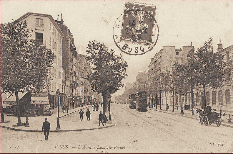 Avenue De La Motte Picquet Cote Terrasse Du 7e Tourville Vers 1900 Tourisme En France Vieux Paris Histoire De Paris