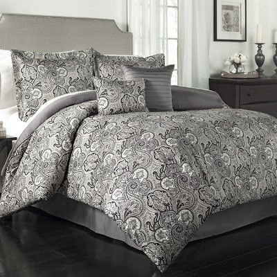 Queen New Traditions by Waverly 6-Piece Paddock Shawl Comforter Set Porcelain