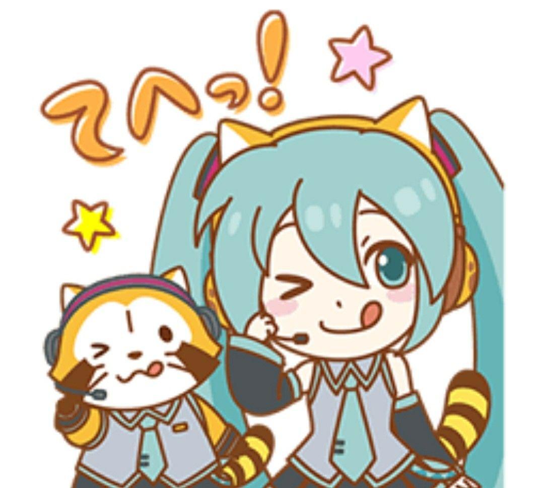 hatsume miku rascal line sticker rascal in 2018 pinterest