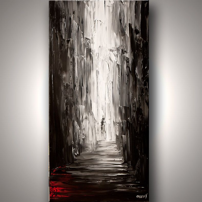 painting of an alley in black and white art pinterest artworks