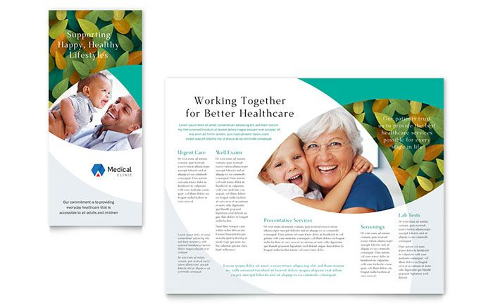 Publisher Brochure Templates | Doctors Office Brochure Template Design By Stocklayouts Brochure