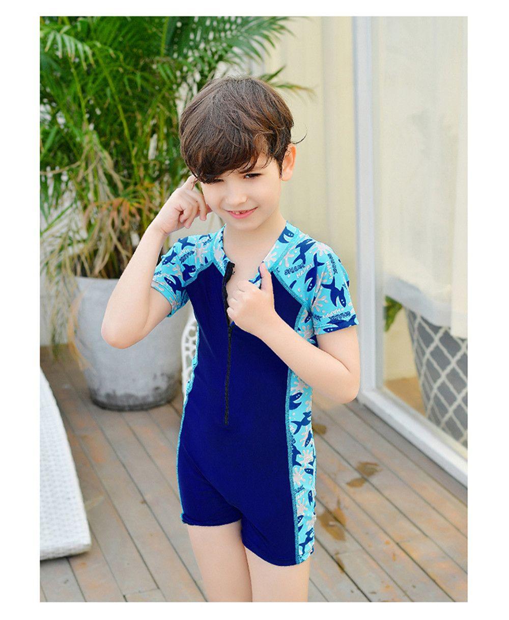2ee6f7315c7 Child Swimwear One Piece Boys Swimsuits Cartoon Print Kids Bathing Suits  Baby Boy Swimsuit Children Beach Wear With Back Zipper.