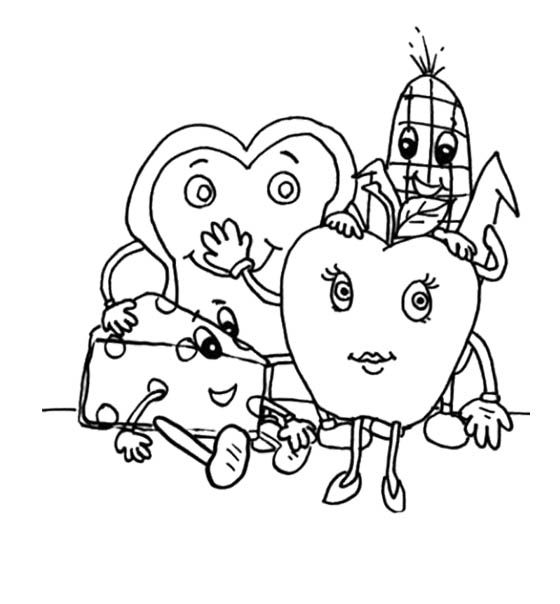 healthy coloring pages - photo#8