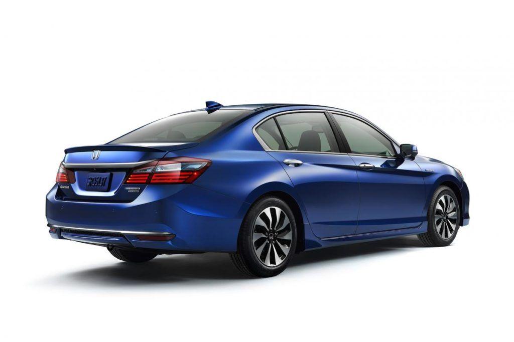 Blue 2017 Honda Accord Side Rear Automobil