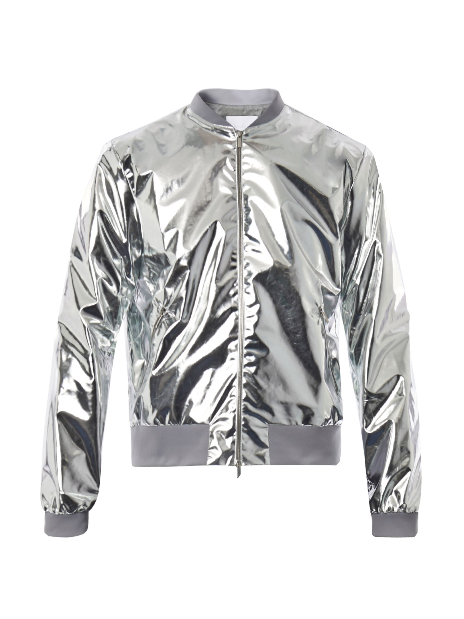 d8fbee378 silver foil bomber Silver Bomber Jacket, Bomber Jacket Men, Bomber Jackets,  Silver Metallic