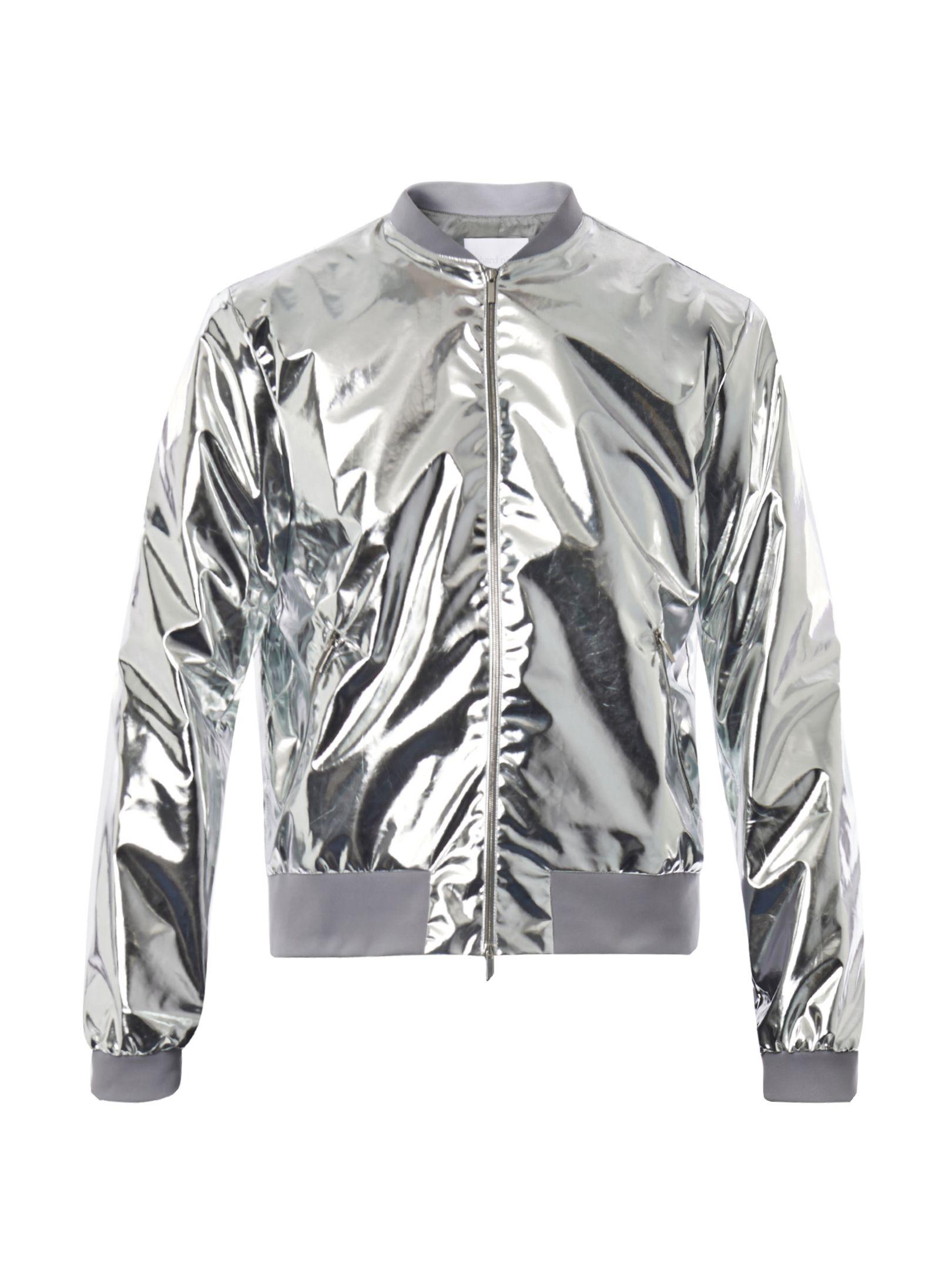de8cd4b4e silver foil bomber | Body in 2019 | Lightweight bomber jacket ...