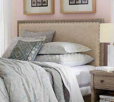 Toulouse Headboard, King, Gray Wash | Pinterest
