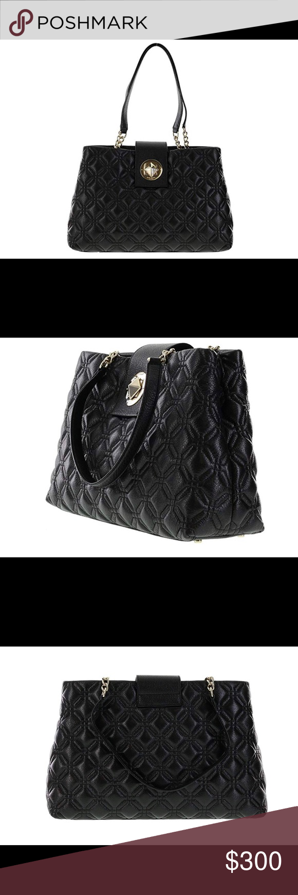 e93d79259b1b Kate Spade shoulder bag Beautiful Kate Spade   Astor Court Elena   over the  shoulder bag.Quilted black leather with light gold plated hardware.