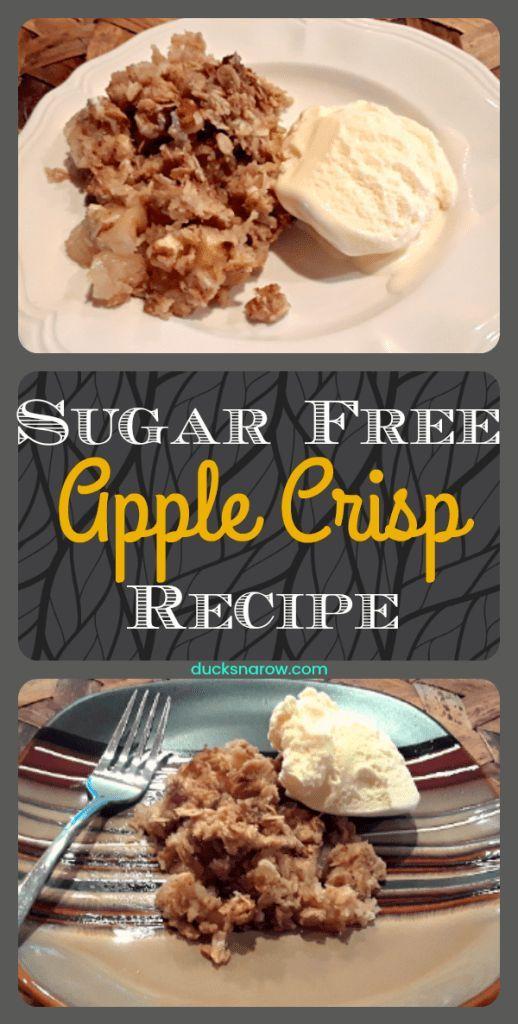 Heerlijk recept voor een klassiek appel-crisp recept dat SUIKER GRATIS is! #recipes #su #Desserts #Kuchen #sugarfreedesserts