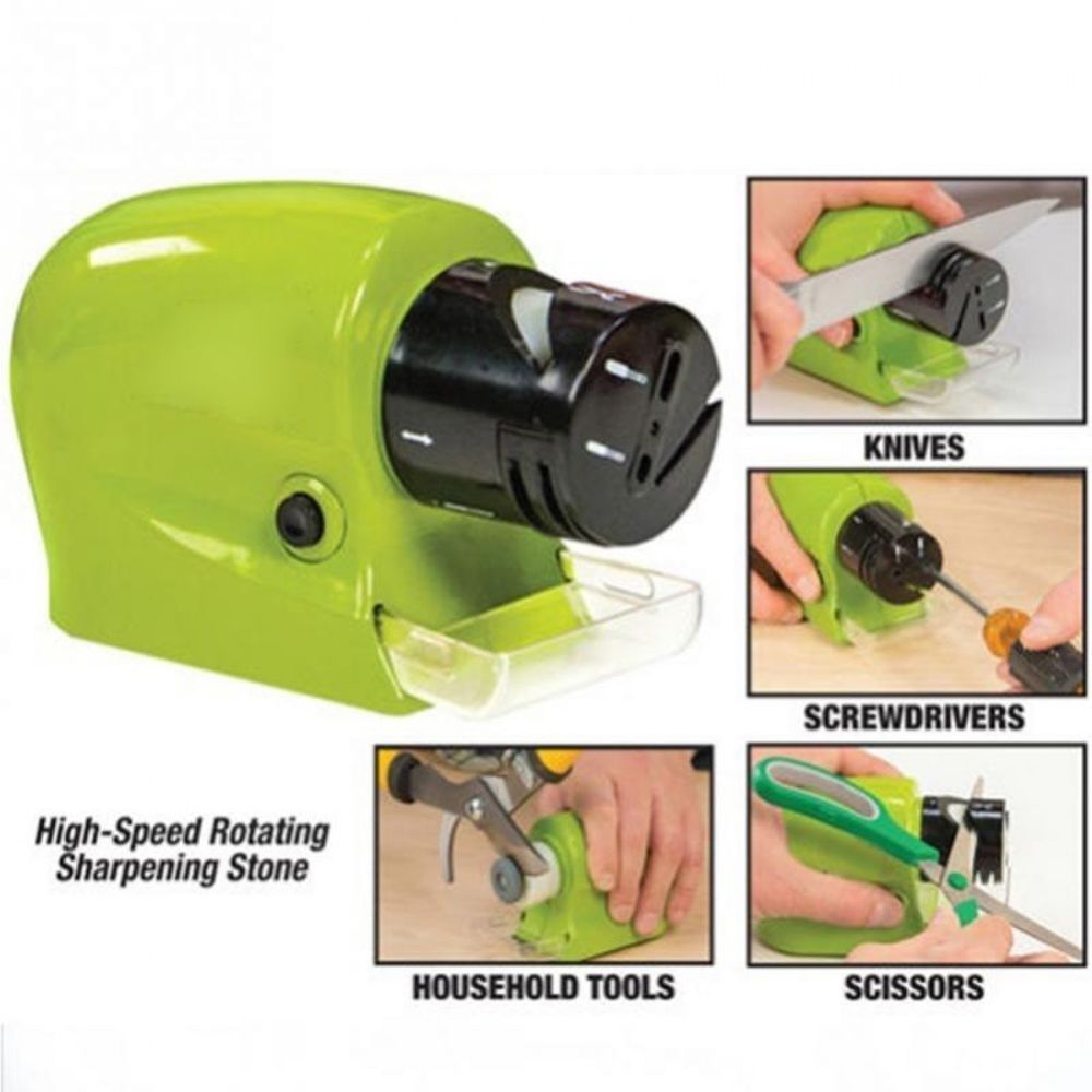 Electric sharpeners power grinding wheels knives