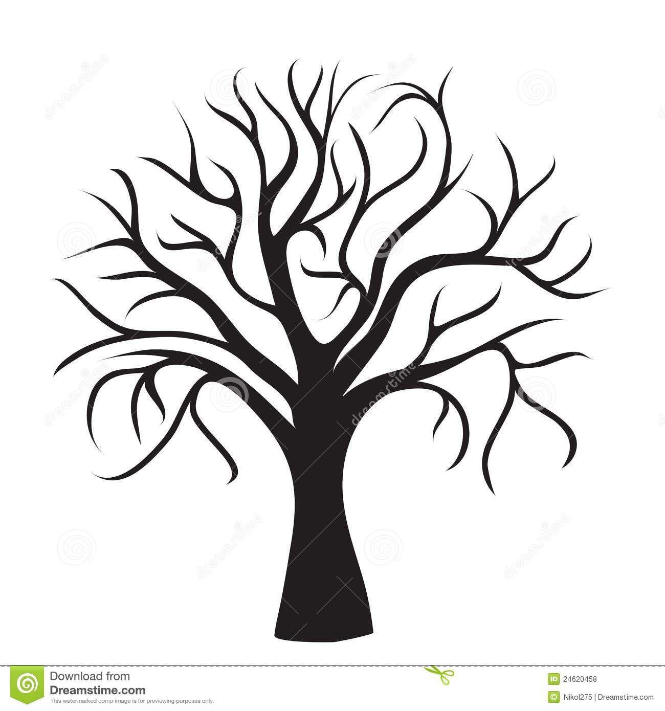 Tree no branches Black tree, Tree outline, Tree silhouette