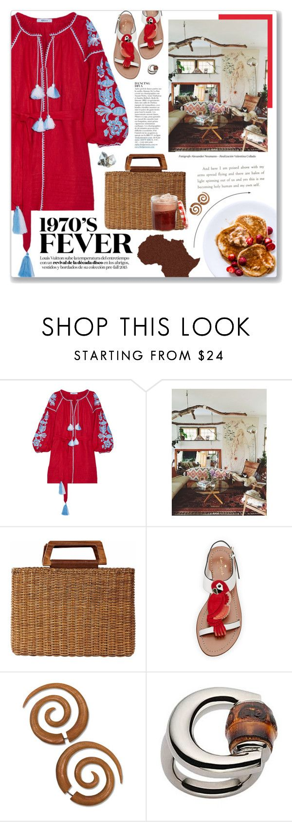 """""""Brandy (You're A Fine Girl), Looking Glass"""" by blendasantos ❤ liked on Polyvore featuring March11, Salvatore Ferragamo, Kate Spade, Anja, Gucci and summerbrights"""