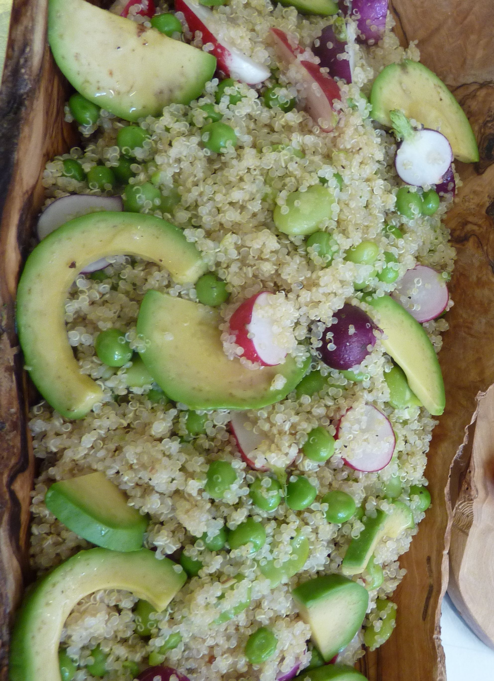 Quinoa, avocado and radish salad | Soup & Salad | Pinterest