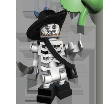 LEGO Skeleton Captain   Image - LEGO Barbossa skeleton.png - Pirates ...