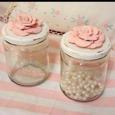 Shabby Chic Craft Ideas | Craft Ideas / Shabby chic containers for my craft room