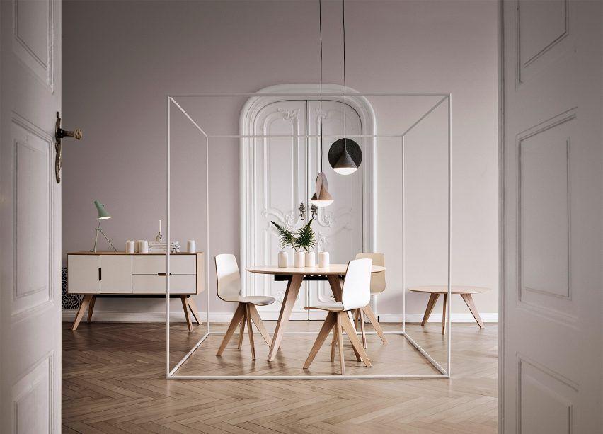 Outofstock designs geometric felt lamps for Bolia Interesting