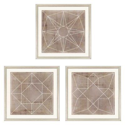 Paragon Geometric Iii Framed Wall Art Set Of 3 1819 Products