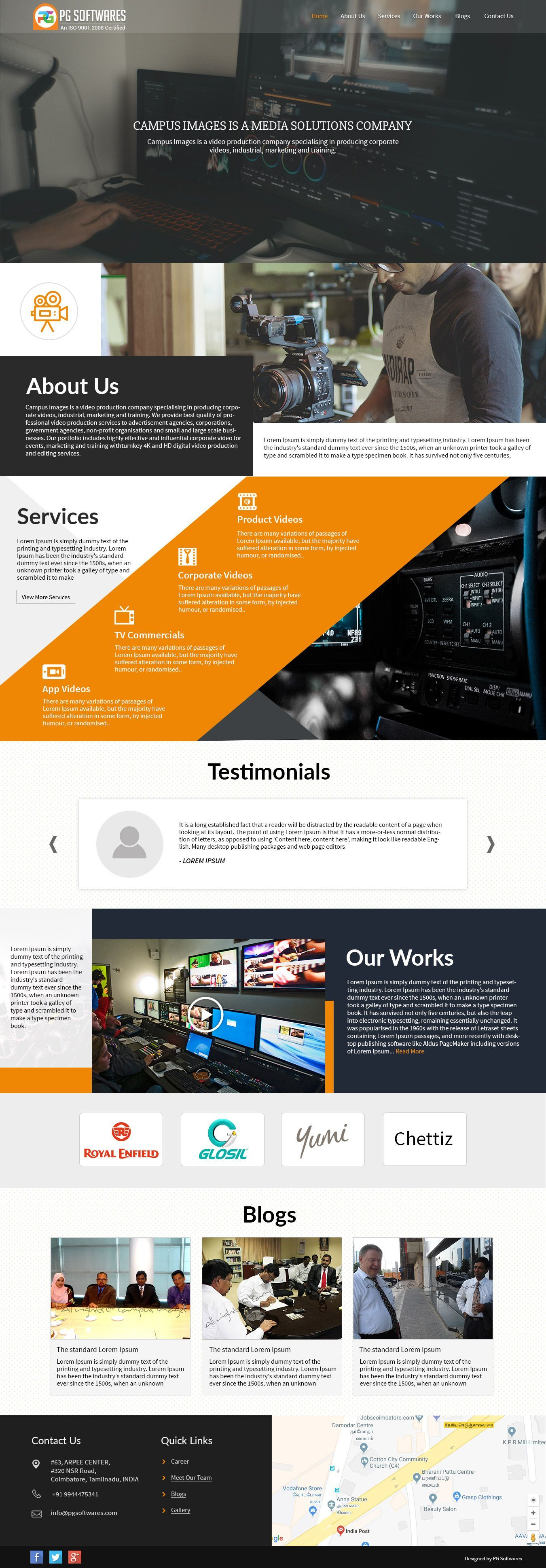 Video Production Company Responsive Website Template WordPress Webdesign Theme