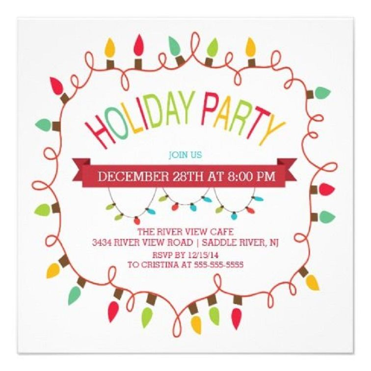 christmas party invitation email to staff | Party Invitation