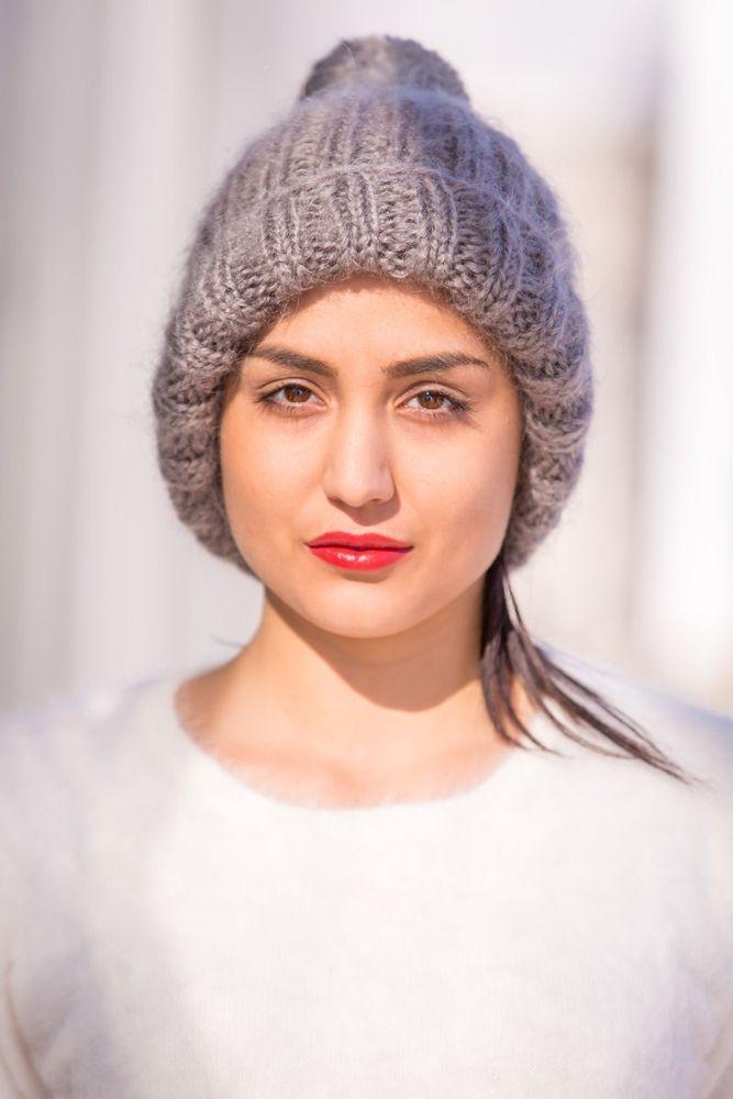 FREE SHIPPING Tiffy Mohair Hand Knitted Hat Beanie Balaclava Fluffy T 540 #TiffyMohair