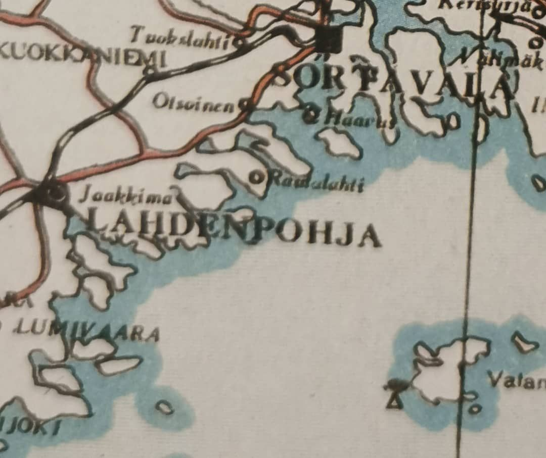 Ita Karjalan Kartta Vuodelta 1934 Juuret Roots Puolet Half