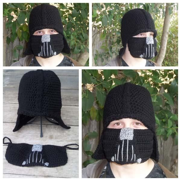 Star Wars Darth Vader Inspired Crochet Beanie Hat Gadgetsin Crochet Hats Star Wars Crochet Crochet