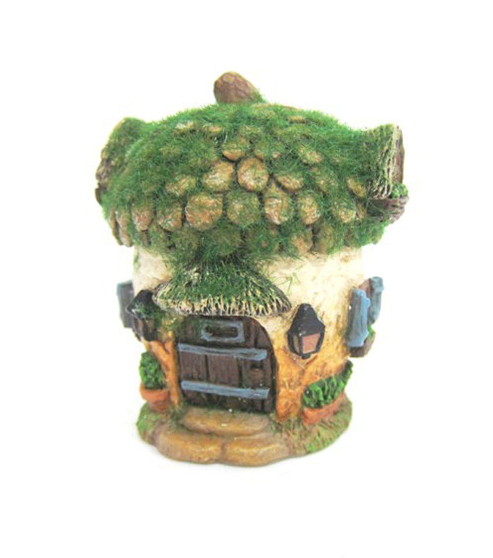 Fairy Garden Resin Acorn House With Moss | Gardens & Outdoor Decor ...