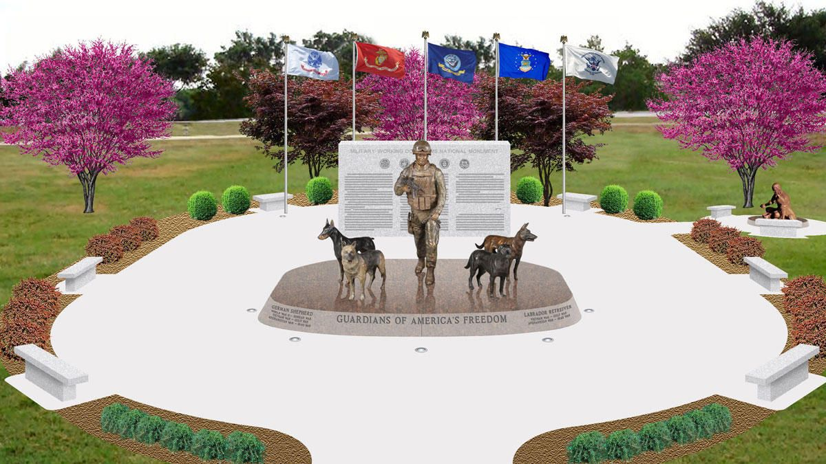 New US Monument Honors Military Service Dogs Military