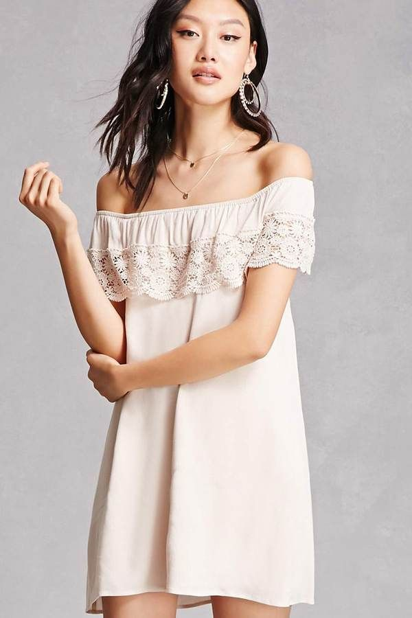 Forever 21 Crochet Flounce Mini Dress