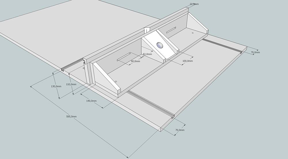 Parallel-Fräsanschlag für Werktisch | Sketchup-Projekte ...