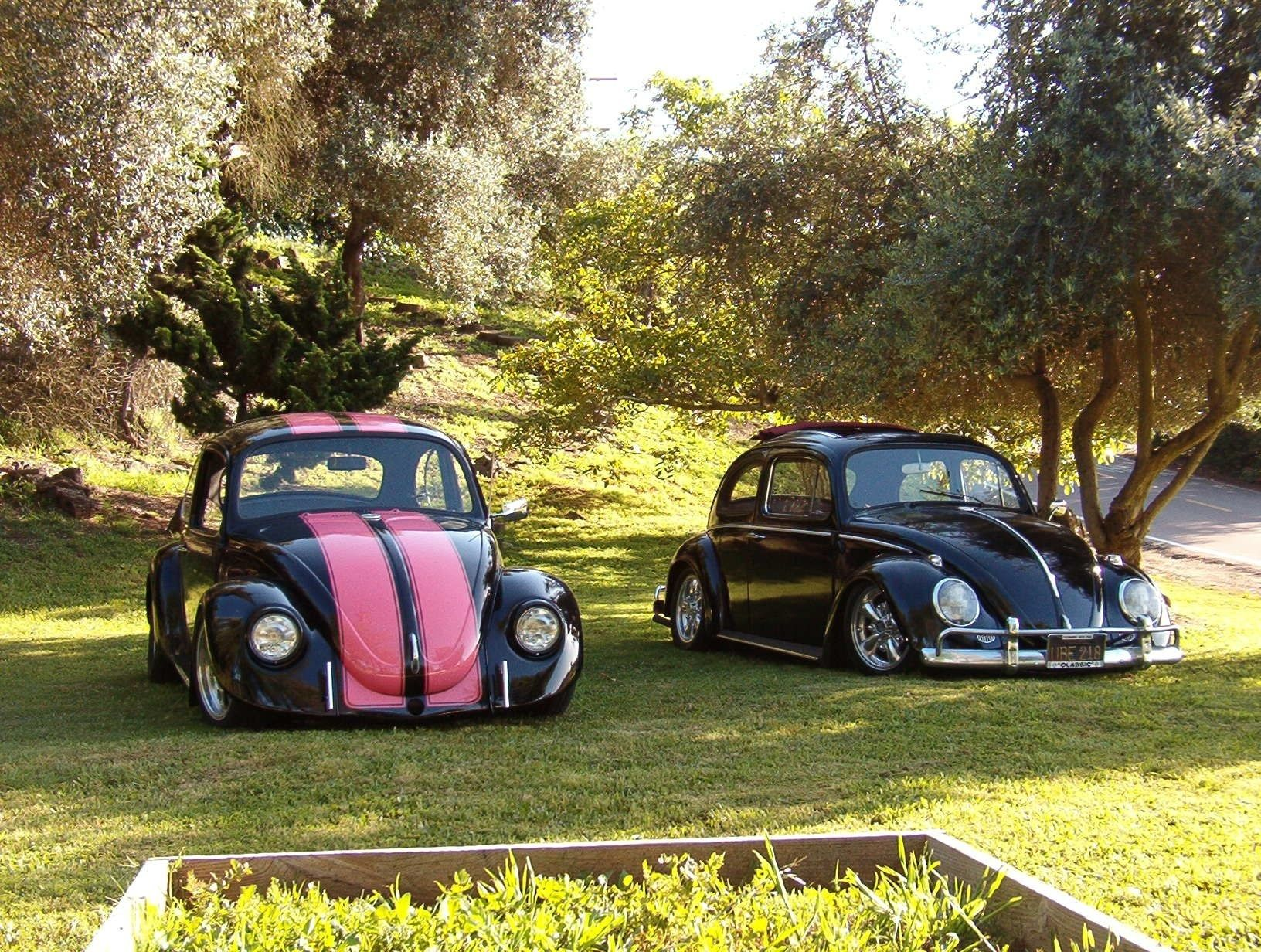 Volkswagen His And Hers Pink Car Sweet Ride Old Bug