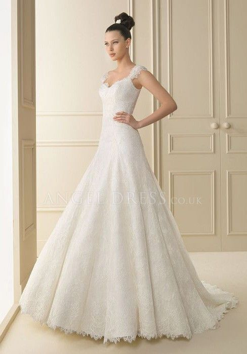 A Line Wedding Gowns with Sleeves