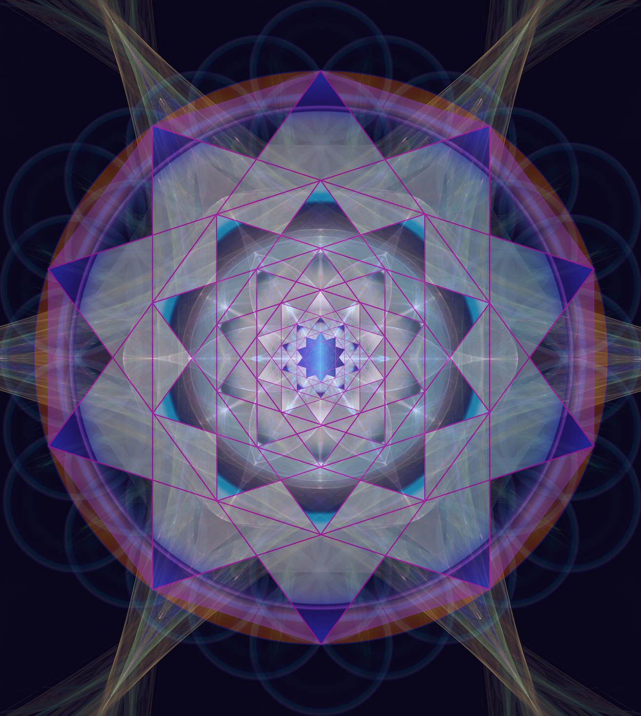 I Was Attracted To The Decagram And Decided Draw Decagrams Within As Felt
