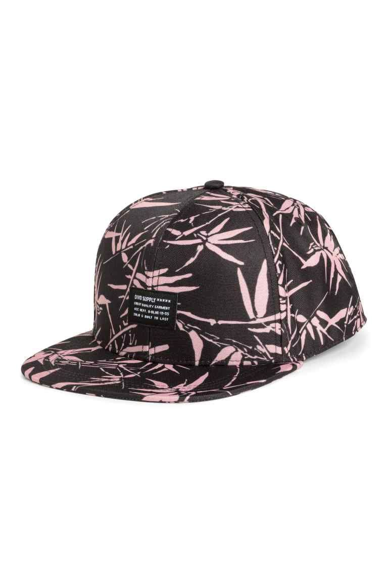 Gorra estampada de sarga - Negro Estampado - HOMBRE  6328f97ec4f