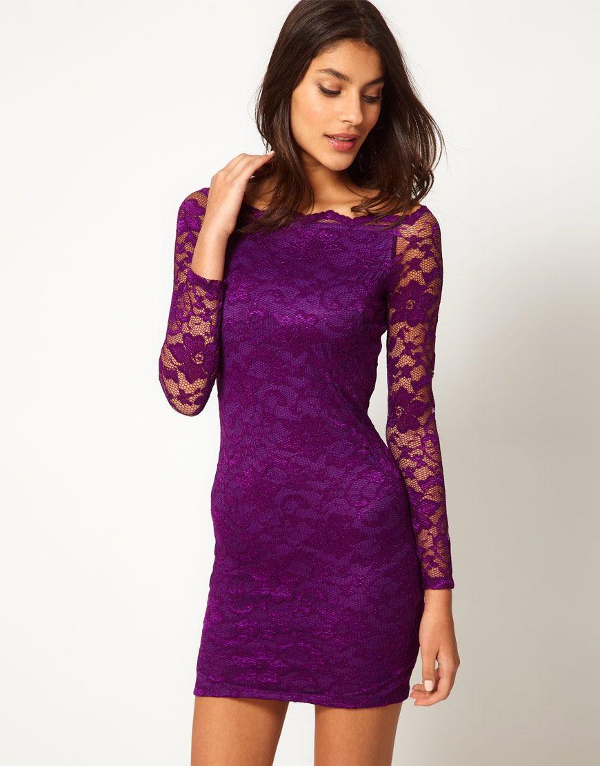 purple lace dress | ♢♢ Purplish Sensation ♢♢ | Pinterest