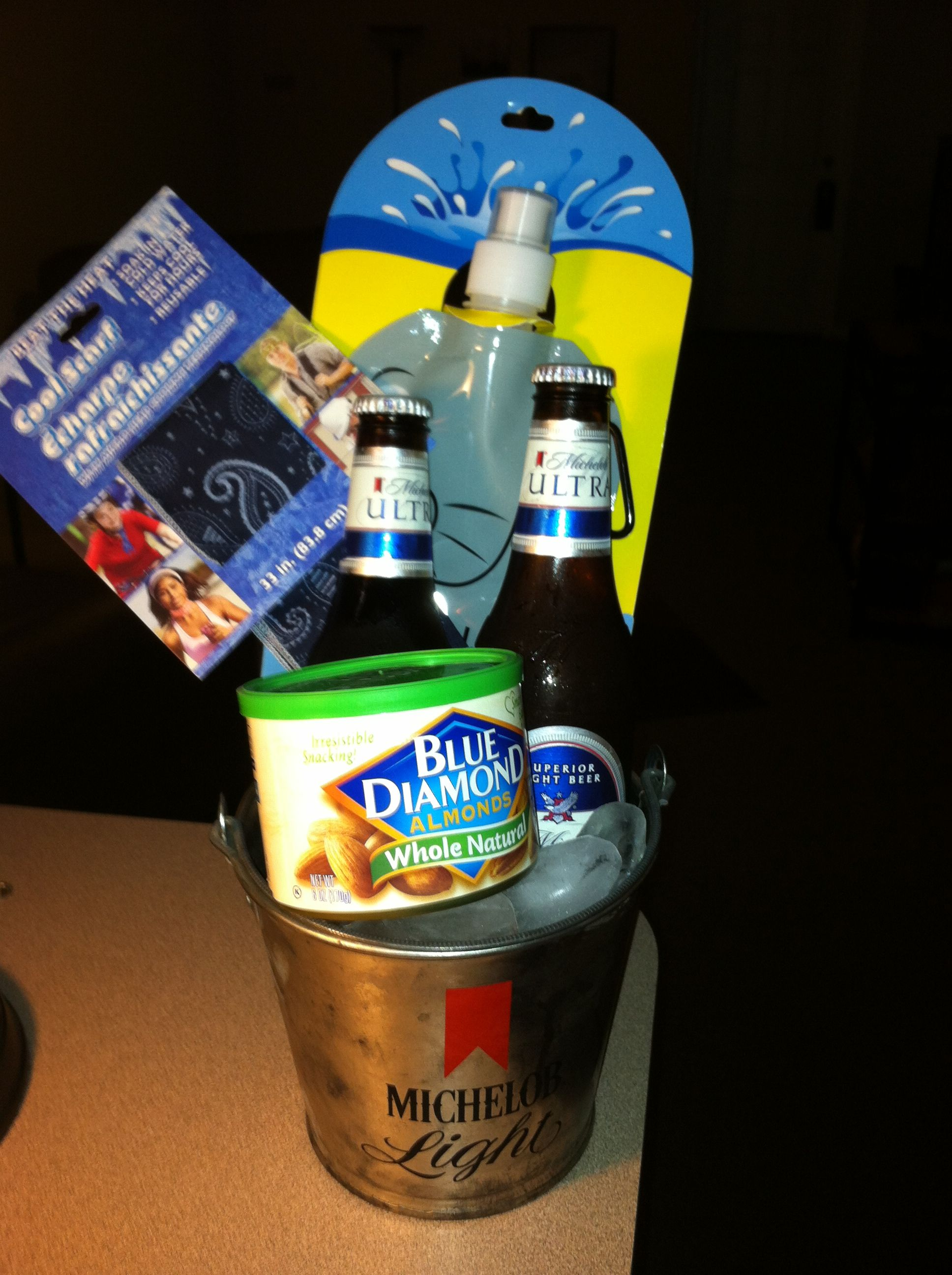 Beer nuts gift basket idea Alabama Roll Tide Father's Day