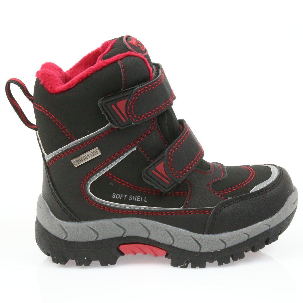 American Club American Kozaki Buty Zimowe Z Membrana 3122 Czarne Czerwone Brooks Sneaker Shoes Sneakers