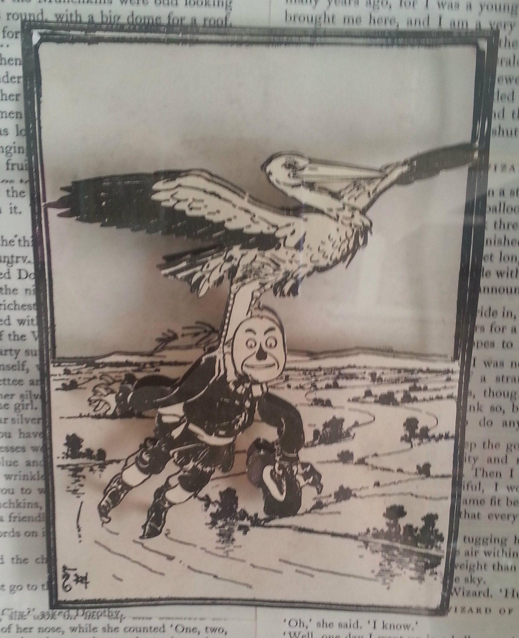 wizard of oz 3d paper craft wall art wizardofoz scarecrow