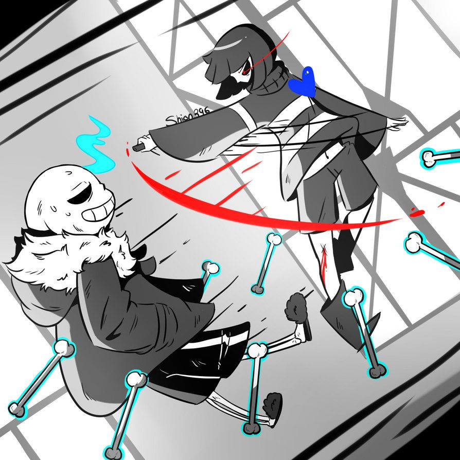 chara vs sans by shion396 undertale pinterest chara frisk and