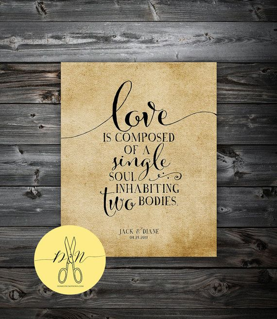 Aristotle Love Quote, Personalized Wedding Art, Aristotle Quote Wall ...