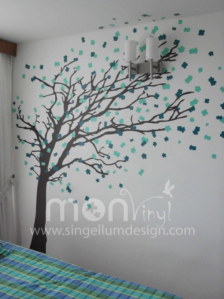 Vinilo montaje arbol de oto o vinilos decorativos for Adhesivos decorativos pared