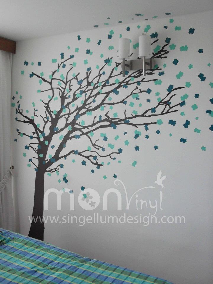 Vinilo montaje arbol de oto o vinilos decorativos for Adhesivos neveras decoracion