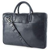 Montreal Slim 15 Executive Navy Blue Leather Bag  In stock  Lucleon Montreal Slim 15 Executive Navy Blue Leather Bag  In stock  Lucleon