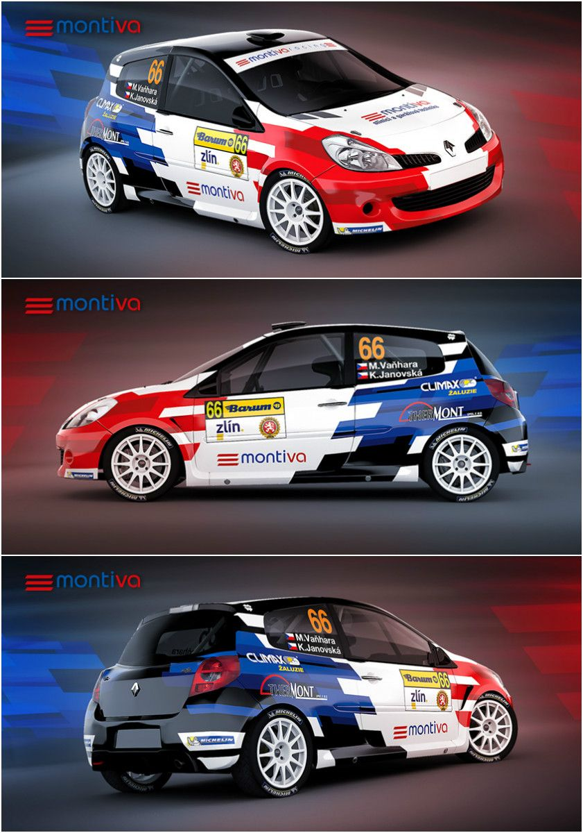 Sport car sticker design - Design And Wrap For Renault Clio Sport From Montiva Racing Team Who Is Competing In
