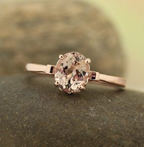 Morganite Engagement Ring Morganite engagement Gold rings and Ring