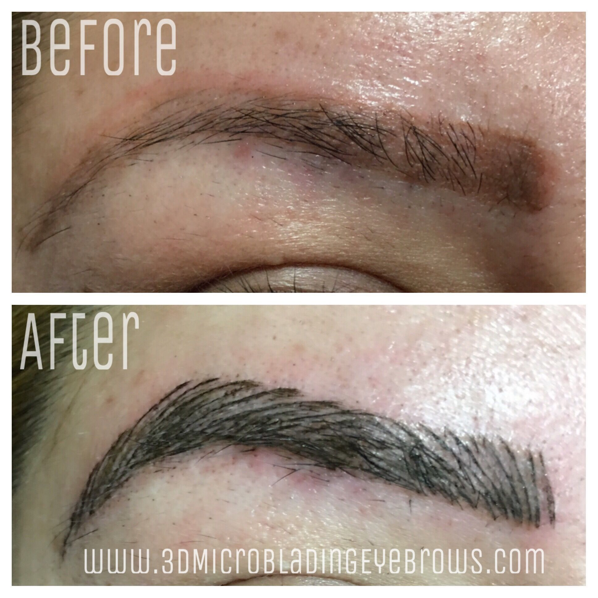 3D Microblading Eyebrow Before and After Permanent Makeup Tattoo ...