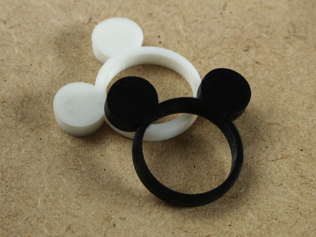 Mouse Rings To 3d Print Mouse Rings Mickey Mouse Ring Diy Prints