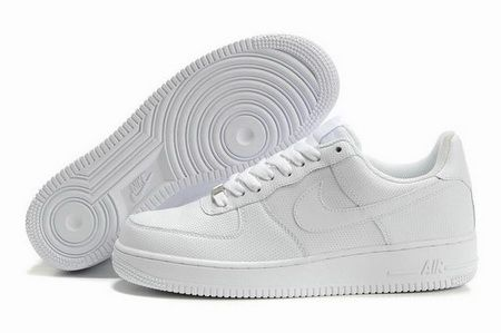all white nike air force