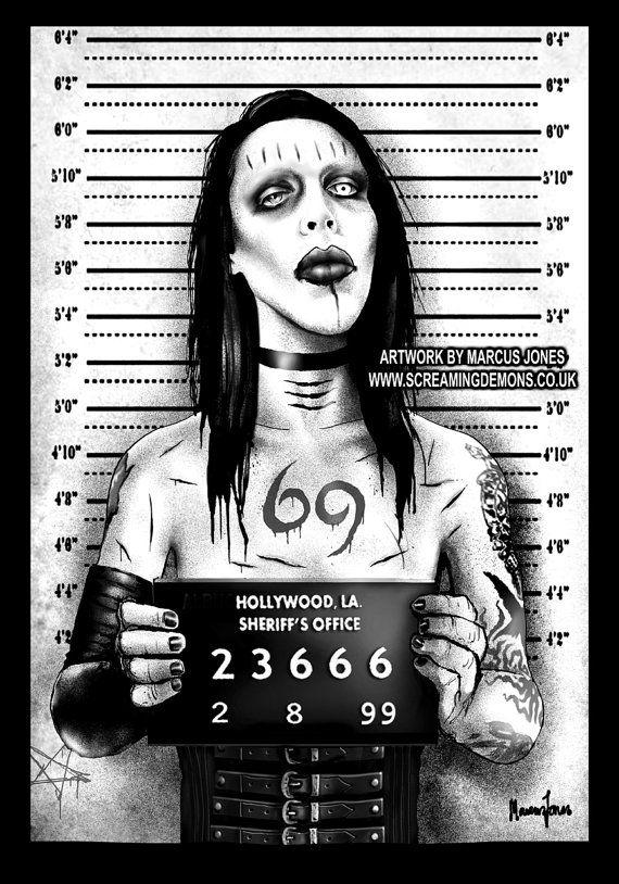 Arte gótico Marilyn Manson Foto arte brujería por MarcusJonesArt